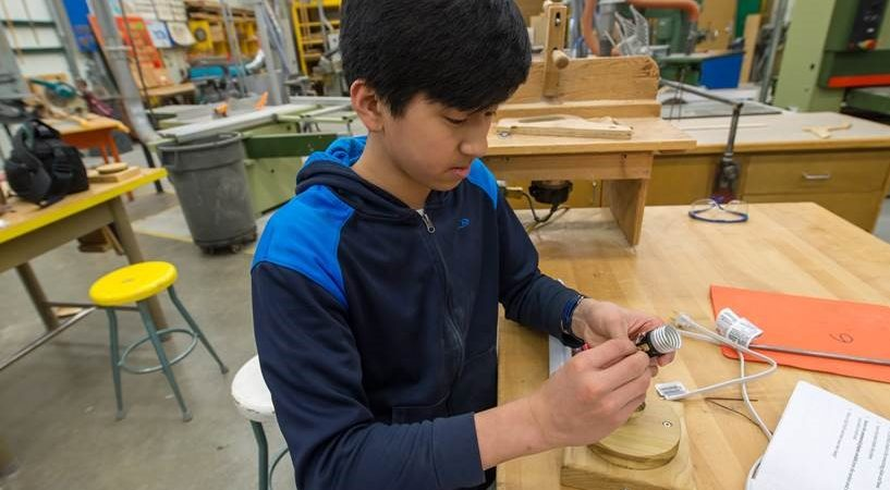 Our GH student at LP in a Trades Workshop