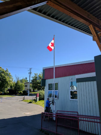Our new Canada Flag. Thank you Mr. B. #Canada150