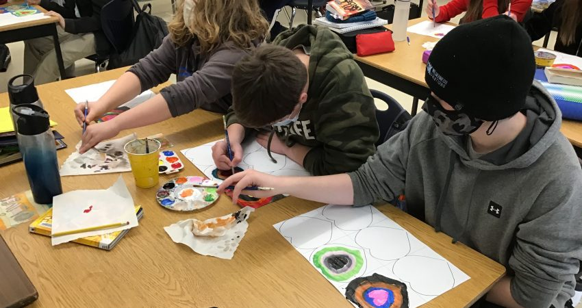Kandinsky Valentines Art Project